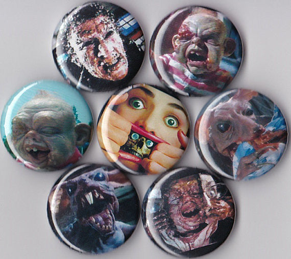 Dead Alive Pinback Buttons set of 7 - Pindependent Pinbacks