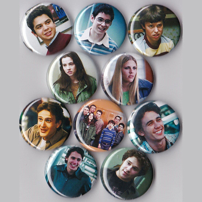 Freaks and Geeks Pinback Buttons set of 10 - Pindependent Pinbacks