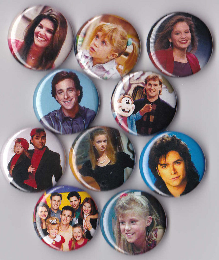 Full House Pinback Buttons set of 10 - Pindependent Pinbacks