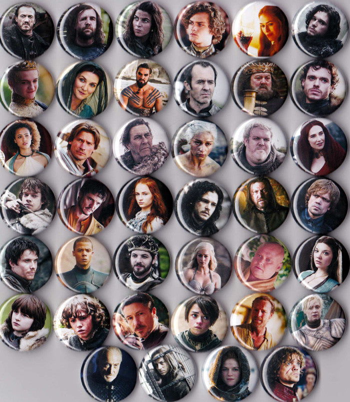 Game of Thrones Pinback Buttons or Magnets set of 40 - Pindependent Pinbacks