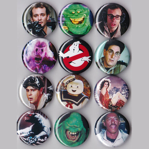 Ghostbusters Pinback Buttons set of 12 - Pindependent Pinbacks