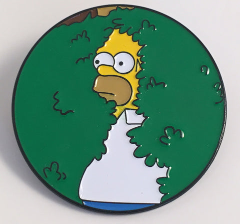Homer in Bush Simpsons Enamel Pin - Pindependent Pinbacks
