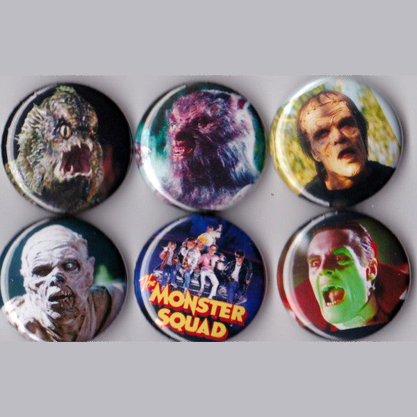 Monster Squad Pinback Buttons set of 6 - Pindependent Pinbacks
