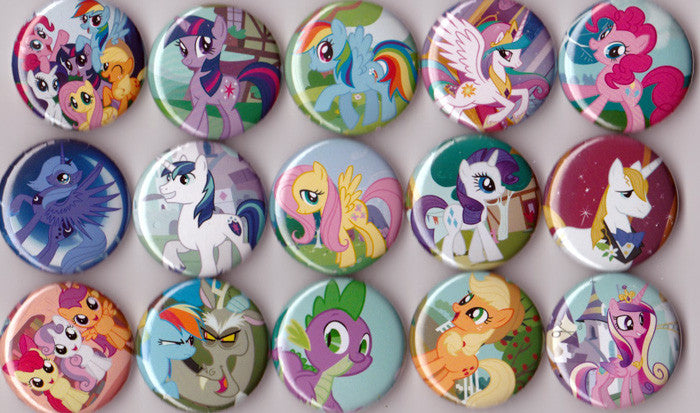 My Little Pony Pinback Buttons set of 15 - Pindependent Pinbacks
