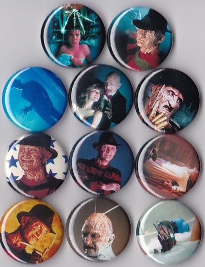 Nightmare on Elm Street Pinback Buttons set of 11 - Pindependent Pinbacks