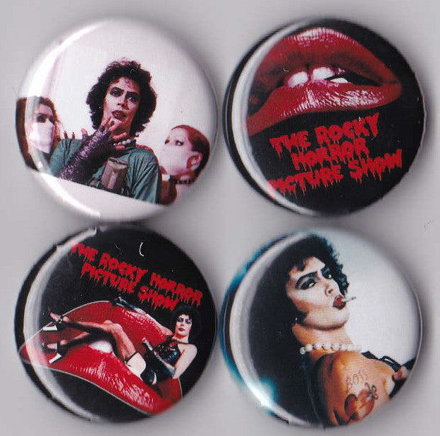 Rocky Horror Picture Show Pinback Buttons set of 4 - Pindependent Pinbacks