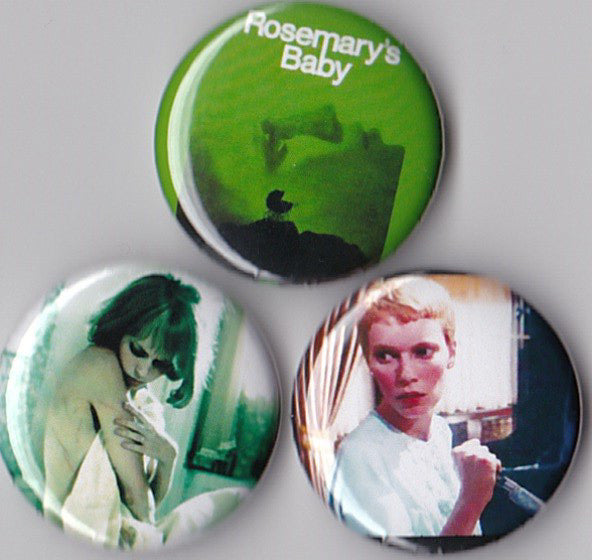 Rosemary's Baby Pinback Buttons set of 3 - Pindependent Pinbacks
