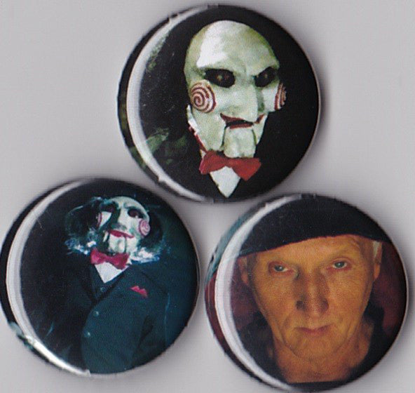 Saw Pinback Buttons or Magnets set of 3 - Pindependent Pinbacks