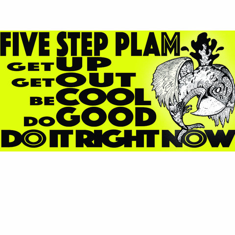 FIVE STEP PLAM STICKER