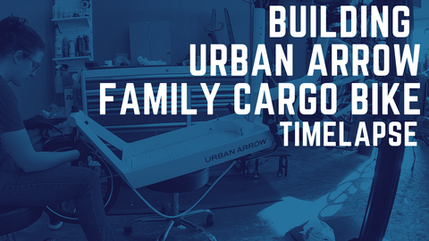 Building an Urban Arrow Family Cargo Bike Timelapse