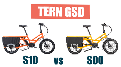 The Tern GSD S10 vs S00 Electric Cargo Bike