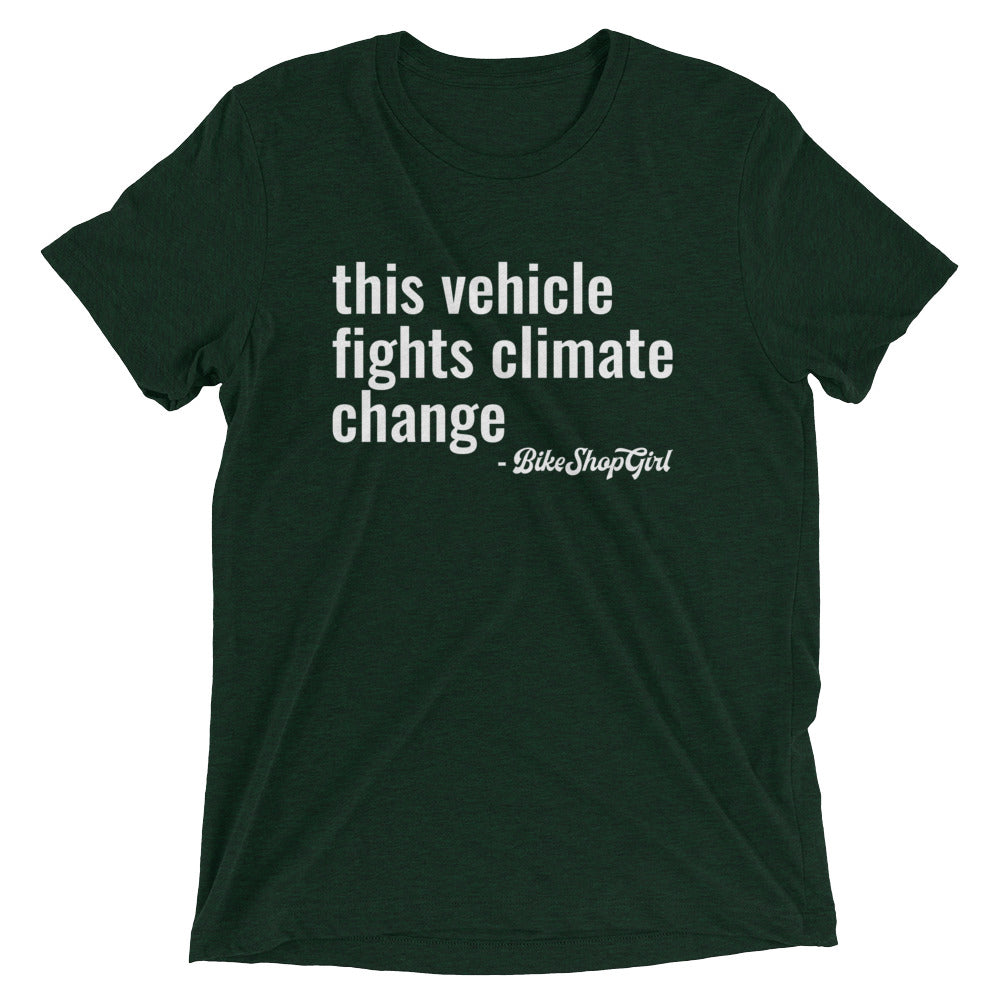 Vehicle Fights Climate Change Short sleeve t-shirt