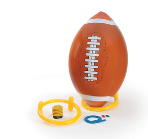 4 Foot Giant Inflatable Football with Tee & Pump - Jumbo Kickball Game - Perfect Life Ideas