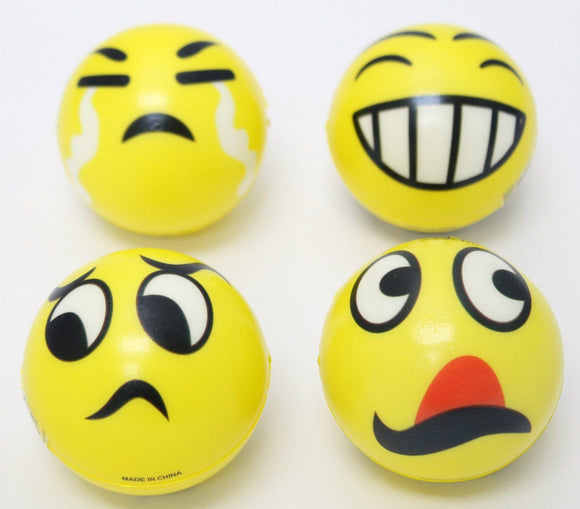Emoji Squeeze Stress Balls Set of 4 Relax Stress - Randomly Assorted - Perfect Life Ideas