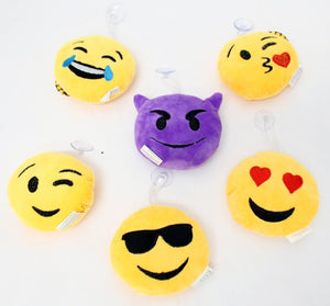 Emoji Pillows Glass Mounting Window Suction Cups and Hanging String - Perfect Life Ideas