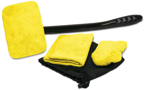Windshield Cleaner Wiper Set 16 Inch Long Handle & 2 Microfiber Cloth - Perfect Life Ideas