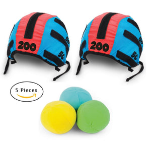 Tossing Head Games for Adults and Kids – Hook and Loop Tape Target Cap and Ball Toss Game Set with 5 Pieces, 2 Headbands Caps Hats and 3 Soft Balls Indoor Outdoor Tossing Games Ideal Gift Ideas - Perfect Life Ideas