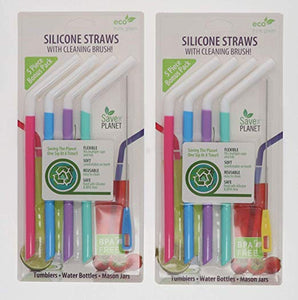 Reusable Straws with Straw Cleaning Brushes BPA-Free Colorful Plastic - Perfect Life Ideas