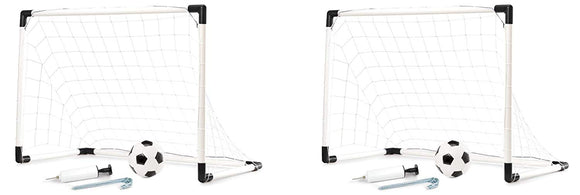 Soccer Game For Kids Outdoor Backyard Lawn Goal Post Kickball Game Set - Changes from One Goal Post to Two Goal Posts - Encourage Children into World Cup Sport Activity Toy Games - Perfect Life Ideas