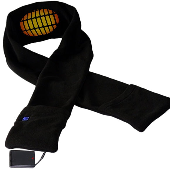 Heated Scarf with Neck Heat Pad - Electric BO Neck Wrap Fleece Scarf