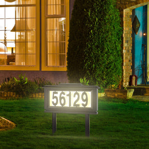 House Mailbox Numbers Reflective Sign – Address Plaques Door Numbers for Houses - Solar Street Address Led Light Signs for Home or Yard – Auto ON at Night – Off at Daylight – No Electric Power Needed - Perfect Life Ideas