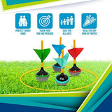 Perfect Life Ideas Lawn Darts Yard Games for Adults and Family - 6 Pcs Boxed Set Jarts as Lawn Backyard Beach - Indoor Outdoor Games for Kids All Ages - Perfect Life Ideas