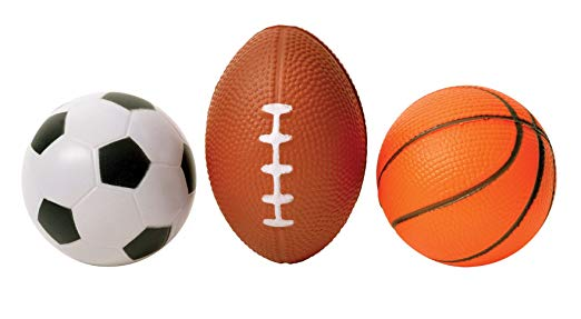3 Pack Mini Sports Stress Balls Set - Soccer Basketball And Football - Perfect Life Ideas