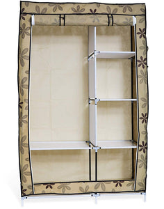 Folding Collapsible Portable Closet Wardrobe - Shelves Organizer - Perfect Life Ideas