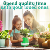 Smart Music Flower Pot Decor-Bluetooth Speaker with Wireless LED Light - Perfect Life Ideas