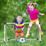 Soccer Game For Kids Outdoor Backyard Lawn Goal Post Kickball Game Set - Perfect Life Ideas