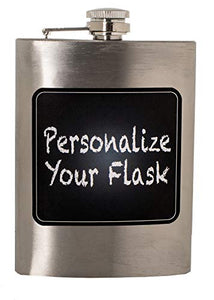 8 Oz Stainless Steel Liquor Hip Travel Pocket Flask with Chalkboard - Perfect Life Ideas
