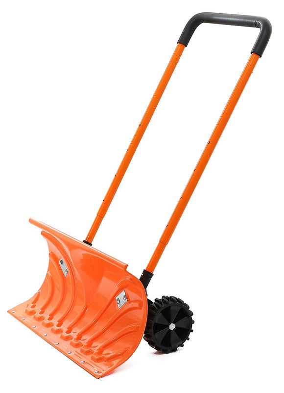Snow Plow Shovel Pusher with Wheels – Snow Removal Tools for Driveway - Perfect Life Ideas
