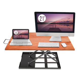 Standing Desk Converter Adjustable Height - Sit to Stand Up Desktop - Perfect Life Ideas