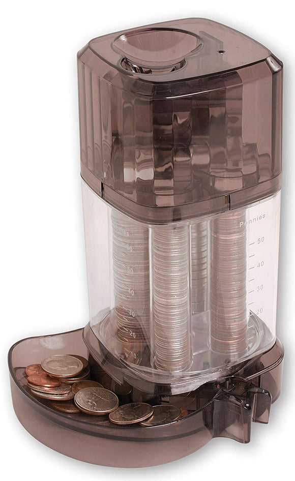 Automatic Coin Sorter Piggy Bank - Clear Standing Piggie Bank Toy - Perfect Life Ideas