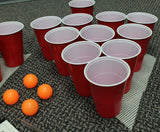Perfect Life Ideas 30 Pc Beer Pong Set Cool Fun Beer Drinking Party Game to Play for Adults College Students - Includes Cups, Balls, Game Anti Skid Mat More - Perfect Life Ideas