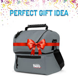 2 Compartment Double Deck Insulated Thermal Hot Cold Lunch Bags box - Perfect Life Ideas