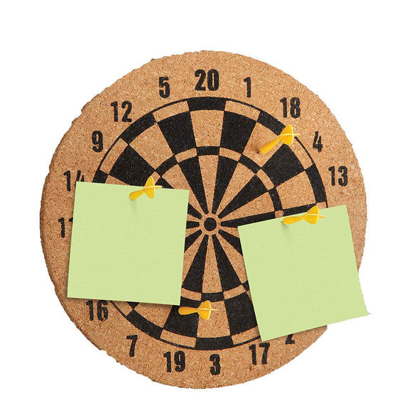 Cork Dartboard Memo Bulletin Board - Memo Board Pinboard Corkboard - Perfect Life Ideas