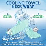 Perfect Life Ideas Gym Cooling Towels for Neck for Athletes - Cooling Neck Wrap Bandana as Cool Sweat Towel Neck Coolers Wraps for Hot Weather for Men and Women - Perfect Life Ideas
