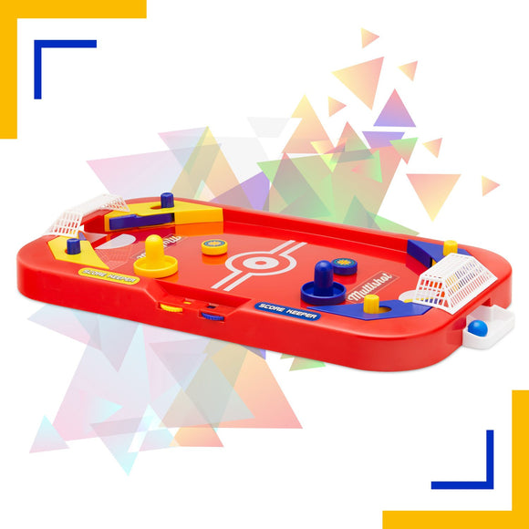 Two Player Desktop Soccer Hockey Game - 2 in 1 Soccer and Knock Hockey Mini Table Top Game - Cool Classic Penny Arcade Games Table Top Shooting Fun Toy For Kids Boys Girls Adults Teens Sports Fans - Perfect Life Ideas