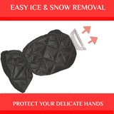 Ice Scraper Mitt for Car Windshield – Auto Car Truck Suv Window Scraper With Insulated Glove & Snow Ice Frost Remover Keep Hands Warm While Scraping Hard Winter Ice - Perfect Life Ideas
