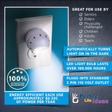 LED Night Light Lamp 2 Pieces Set, 360 Degree Rotating Head with Sensor Auto ON At Dusk, Auto OFF At Dawn for Seniors Bedroom Bathroom Kitchen Hallway Kids Baby Nursery - Perfect Life Ideas