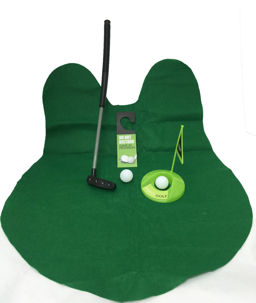 Golf Potty Putter Putting Game - A Whimsical Golfing Indoor Practice Mini Golf Gag Gift Set - Perfect Life Ideas