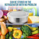 Stainless Steel Mixing Bowls with Lids -FDA Approved & Rustproof 5 pcs - Perfect Life Ideas