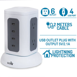 Power Strip Surge Protector Outlet – USB Desktop Charging Station for Multiple Devices Cell Phone Watch Airpods PS4 Xbox Controller at the Same Time - Perfect Life Ideas