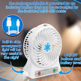 Portable Handheld Fan - Mini Hand Held Personal Fans Battery Operated - Perfect Life Ideas