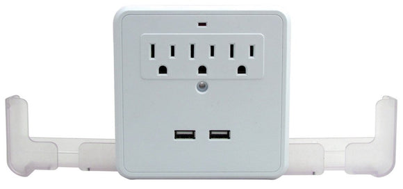 AC USB Wall Outlet Surge Protector Power Strip Multiplier Multiport - Perfect Life Ideas