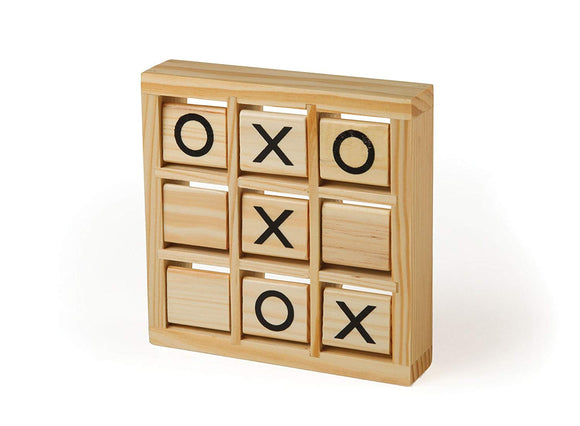 Wooden Tic Tac Toe Game - 2 Player Fun Brain Challenge Games Toys - Perfect Life Ideas