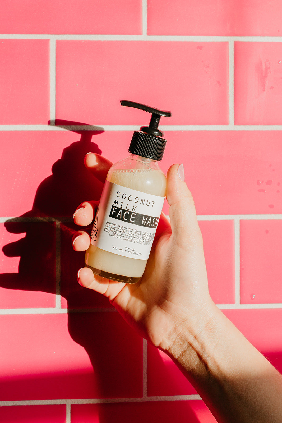 Pink Tile, Coconut Face Wash