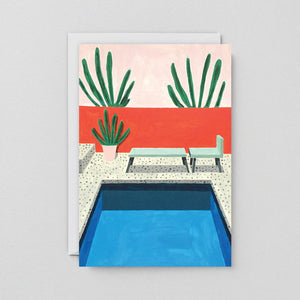 WRAP- Pool Greeting Card
