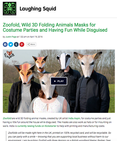 Zoofold article laughing squid